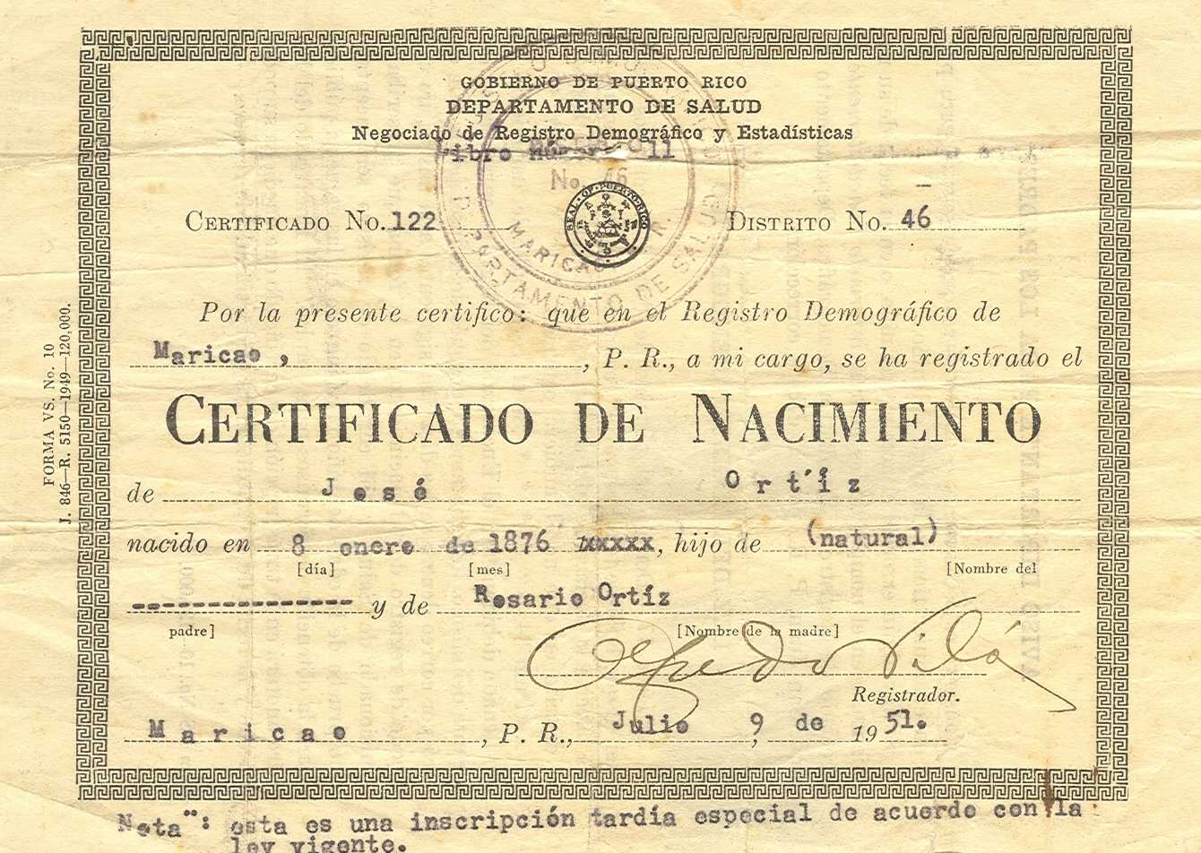 Shock over voided puerto rican birth certificates repeating islands aiddatafo Images