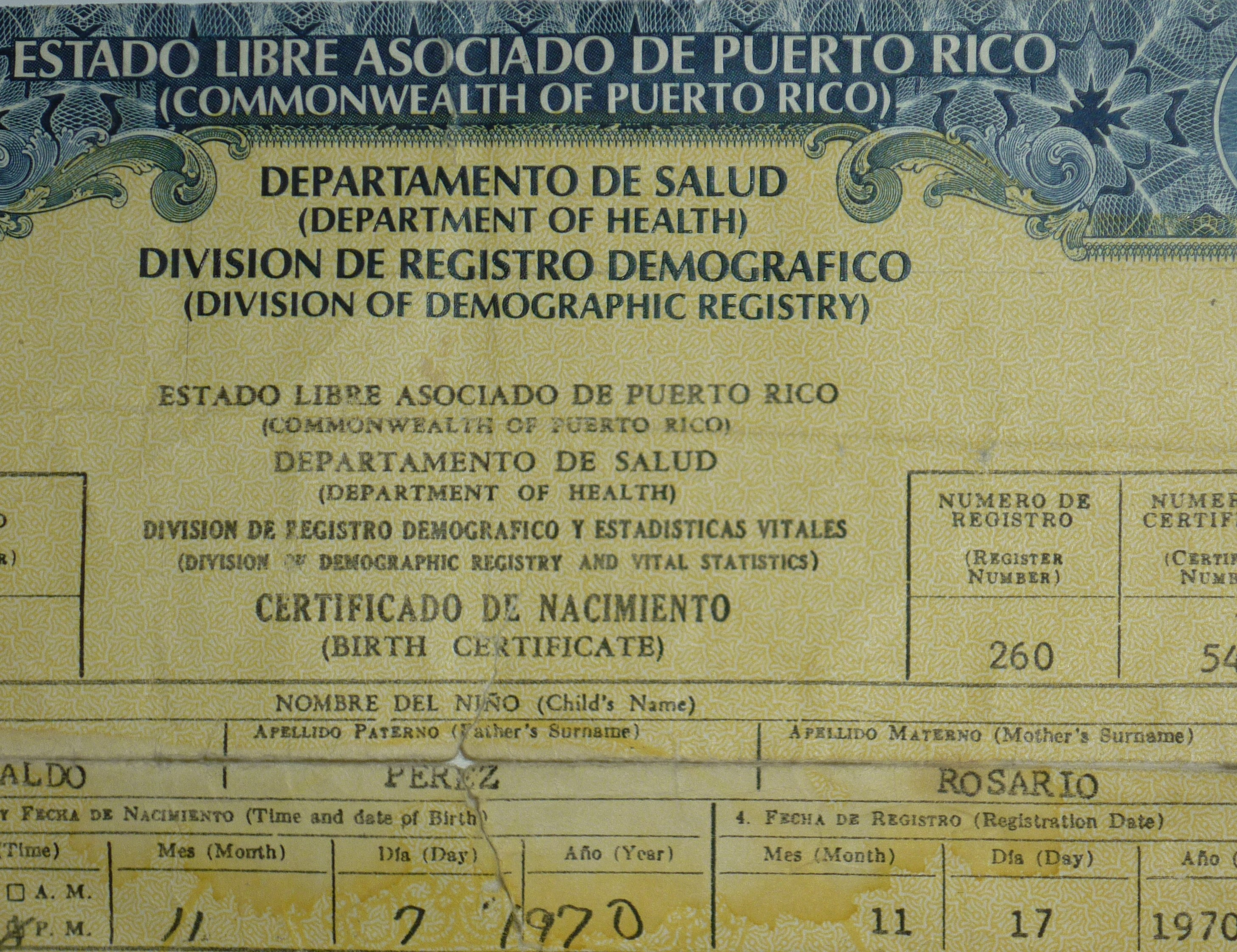 Puerto rico issuing new birth ids to avert fraud repeating islands aiddatafo Images