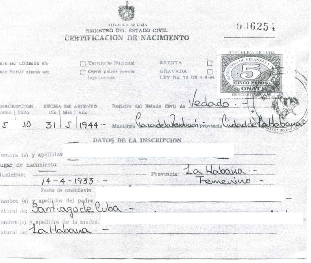 New website launched to find long lost cuban birth certificates new website launched to find long lost cuban birth certificates repeating islands aiddatafo Images