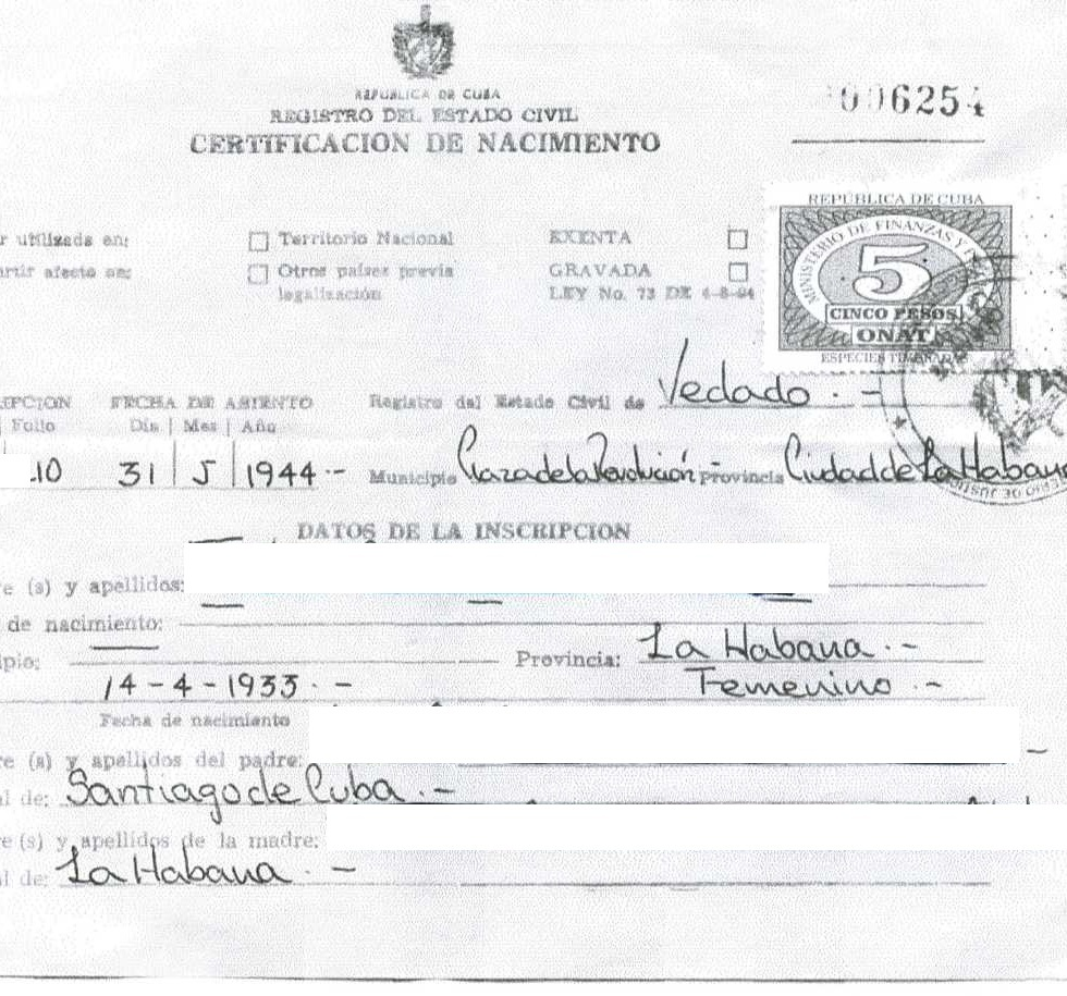June 4 2011 repeating islands new website launched to find long lost cuban birth certificates aiddatafo Image collections