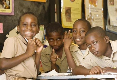 Black jamaican teen having at school reply