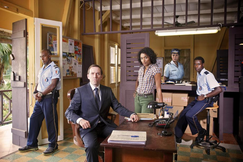 Ben Miller, Sara Martins and Danny John-Jules star in Death in Paradise, an eight-part crime drama due to start on BBC One on Tuesday 25 October 2011.
