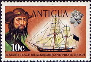 antigua-1970-ships-and-captains-sg-276-blackbeard-and-pirate-ketch-fine-mint-17789-p