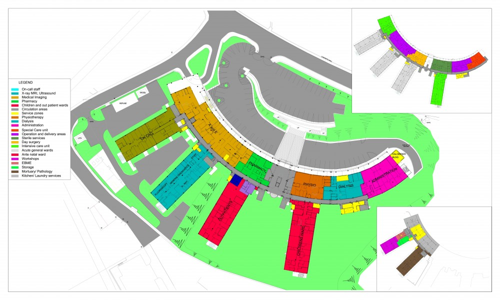 Architecture St Lucia New National Hospital Colorful Addition To Coubaril Repeating Islands