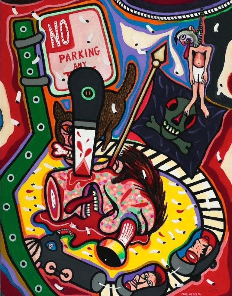 Luis Cruz Azaceta, No Parking Here Any Time, 1978 Courtesy Smithsonian American Art Museum