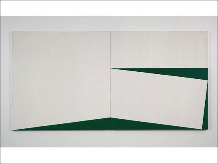 Carmen Herrera, Blanco y verde, 1960 Courtesy BBC Mundo