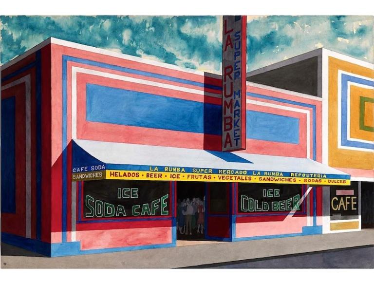 Emilio Sánchez, Untitled (La Rumba Supermarket), late 1980s Courtesy Smithsonian American Art Museum and Emilio Sánchez Foundation