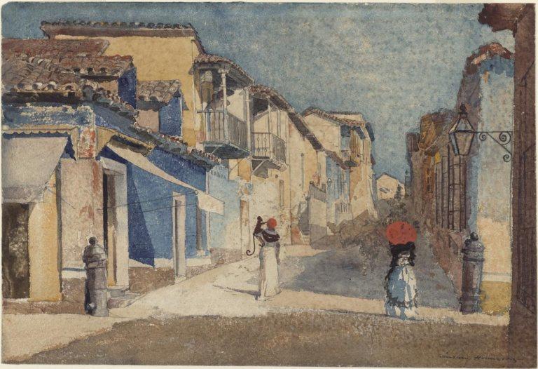winslow_homer_-_street_scene_santiago_de_cuba