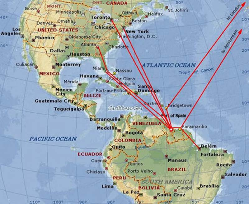 US issues security warning over Guyana flights Repeating Islands