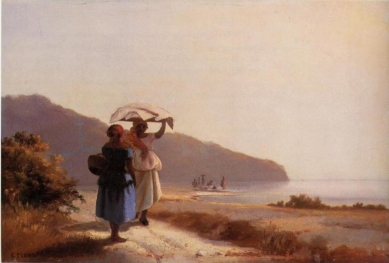 two-woman-chatting-by-the-sea-st-thomas-1856