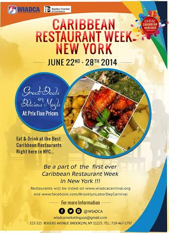 First Caribbean Restaurant Week In New York June 22 28