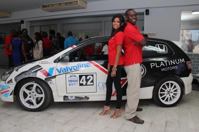 Car Wheel Dolly >> Caribbean Race Car Drivers Natasha Chang and Jamal Brathwaite to Represent Honda – Repeating Islands