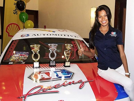 Car Wheel Dolly >> Caribbean Race Car Drivers Natasha Chang and Jamal ...