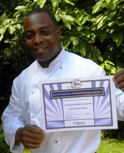 Ricardo Campbell with certificate LOW RES