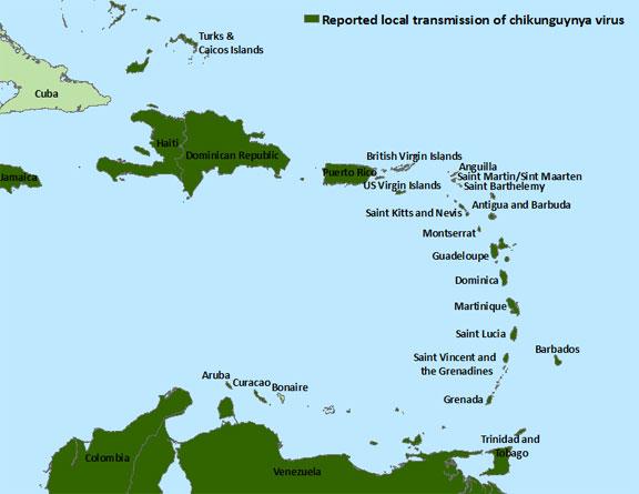 CHIK-Caribbean-Map-102114