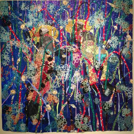 Ebony G. Patterson's ecstatic glitter-coated tapestries, inspired by Caribbean dance clubs