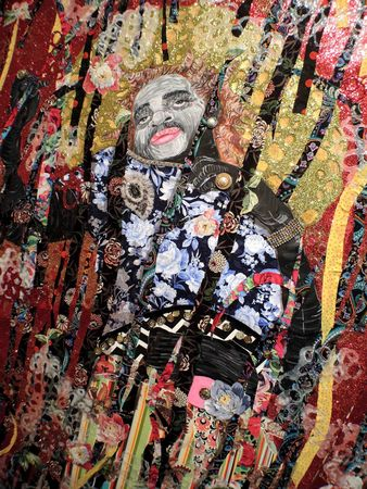 Ebony G. Patterson's ecstatic glitter-coated tapestries, inspired by Caribbean dance clubs 3