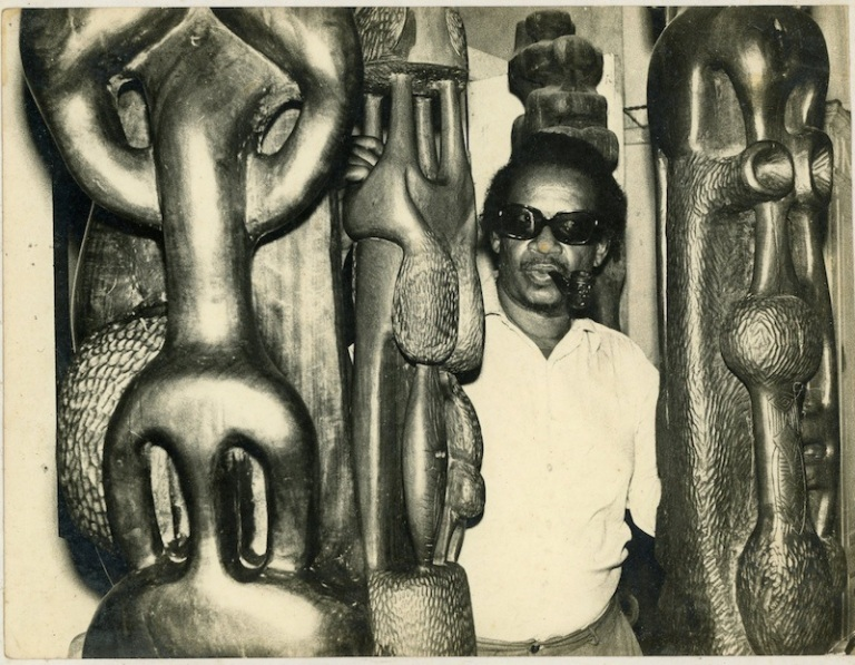 Cobas in his studio, ca. 1974