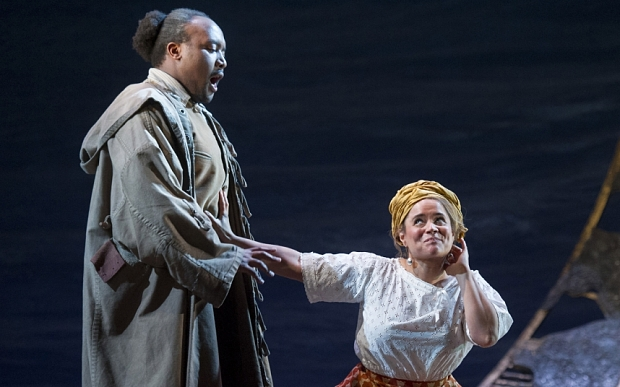 'The Wild Man of the West Indies' Opera performed by English Touring Opera at Hackney Empire Theatre, London, UK