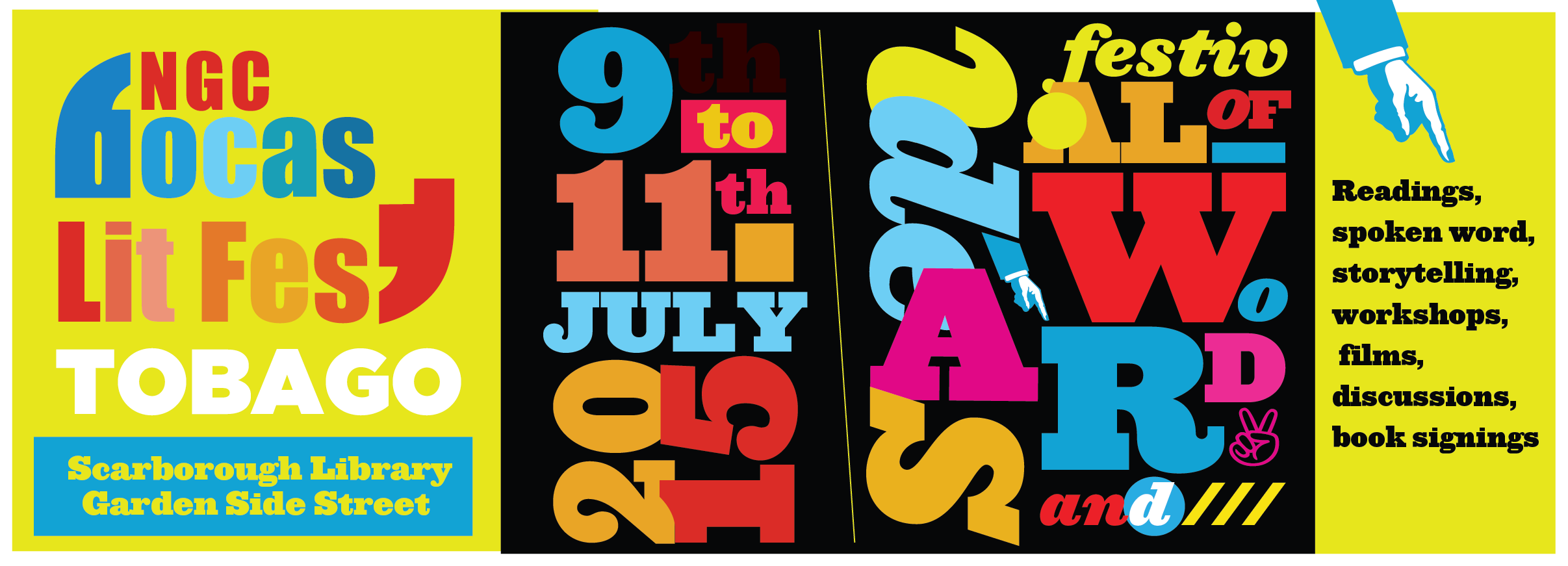 Tobago NGC Bocas Lit Fest Repeating Islands - Lit design 2015