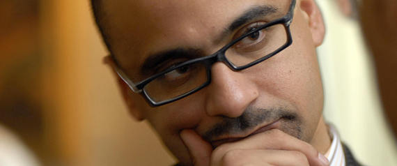 """Dominican MIT professor Junot Diaz, winner of the Pulitzer Prize for his novel """"The Brief Wondrous Life of Oscar Wao"""" attends a ceremony in Santo Domingo, on May 1, 2008. AFP PHOTO/Ricardo HERNANDEZ (Photo credit should read RICARDO HERNANDEZ/AFP/Getty Images)"""