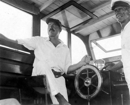 Ernest-Hemingway-at-the-wheel-of-Pilar