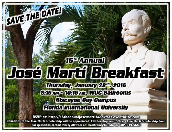 Jose Marti Breakfast 2016