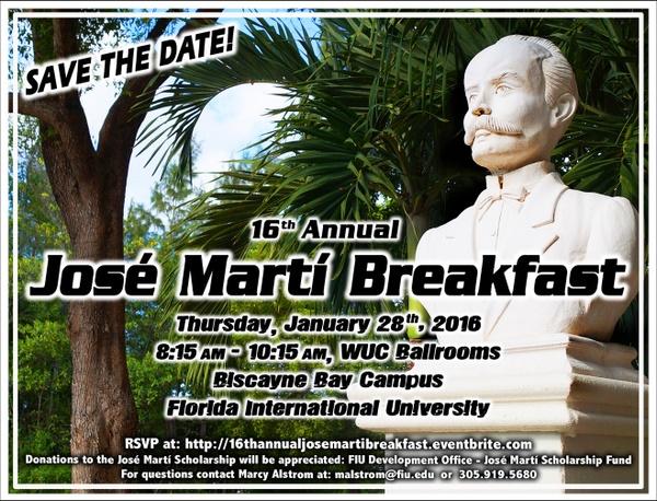 Jose Marti Breakfast 2016
