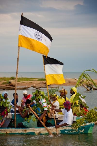Garifuna Settlement Day in Dangriga, Belize 2009.