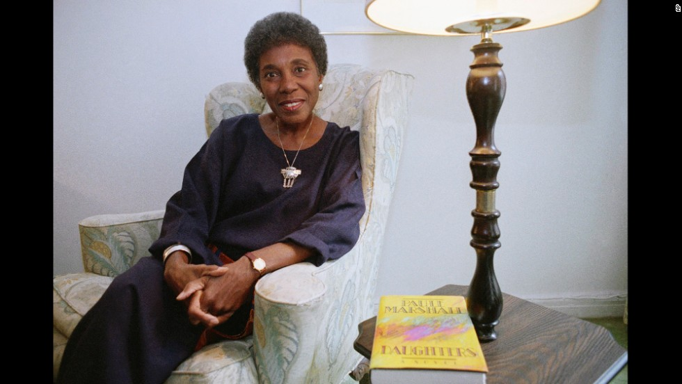 "Author Paule Marshall poses during an interview, Nov. 22, 1991, New York. ""Daughters,"" her latest novel, took eight years to write and tells the story of a young black professional, periodically distracted from her hectic life in Manhattan by thoughts of her family in the Caribbean island and of Triunion. (AP Photo)"