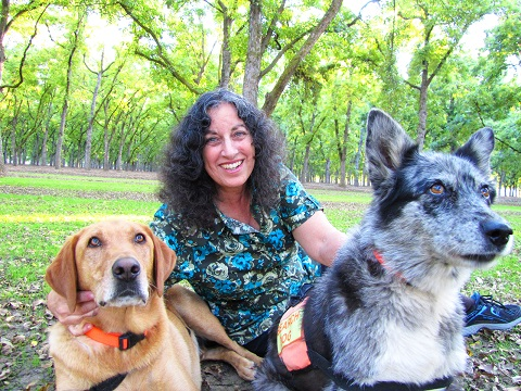 Margarita-Engle-hiding-so-search-and-rescue-dogs-can-practice-finding-a-lost-hiker