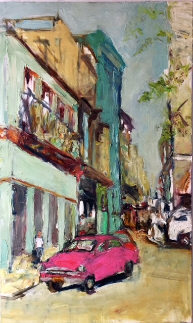 La-Vida-Cuba-_-Pink-Car-34-x-60-oil-on-canvas_anaguzman.jpg