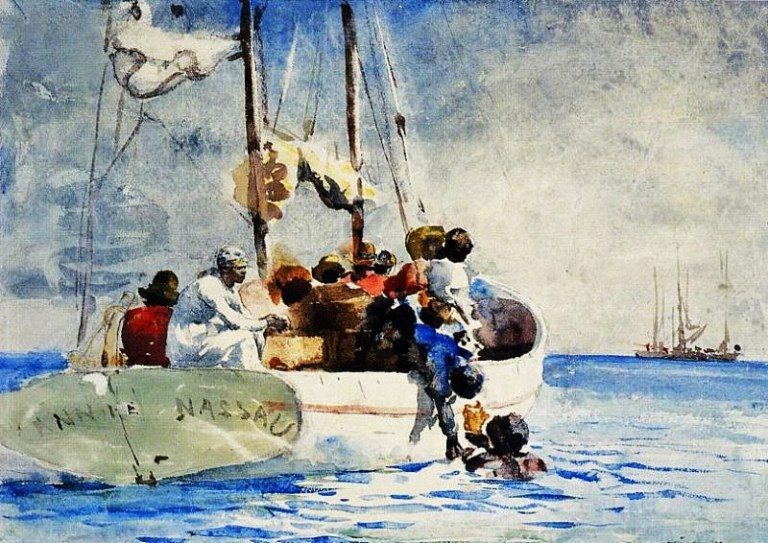 Image result for winslow homer caribbean watercolors