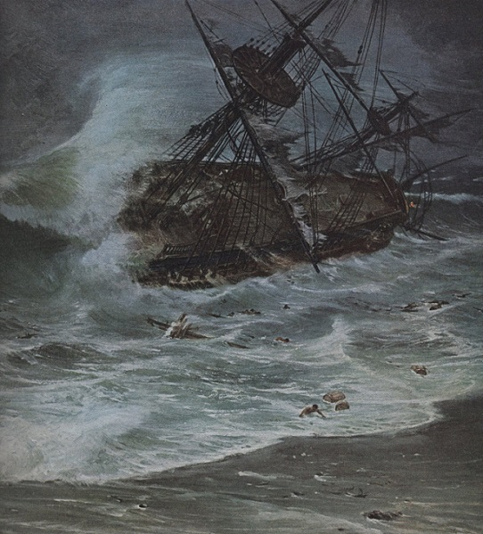 1715 Hurricane sinks Spanish Treasure Ships