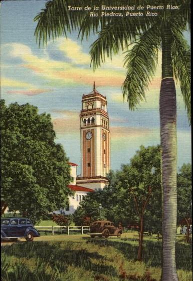Torre De La Universidad De Puerto Rico Rio Piedras
