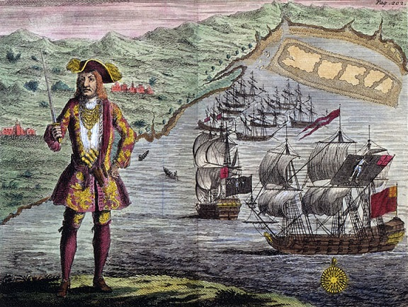 Captain_Bartholomew_Roberts_with_two_Ships